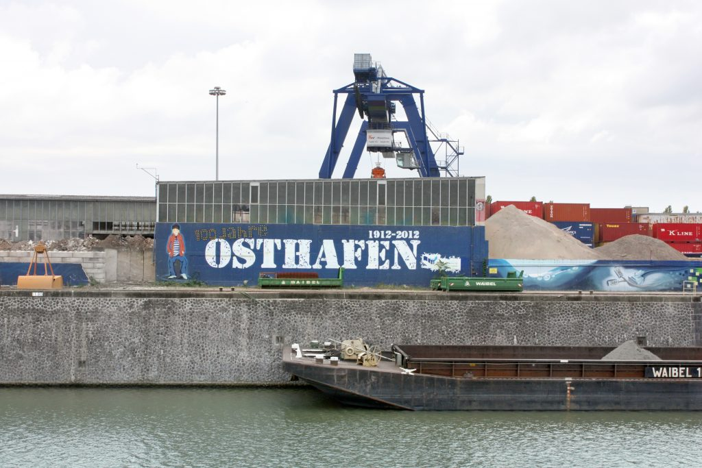 Containers in the Eastern Harbor.
